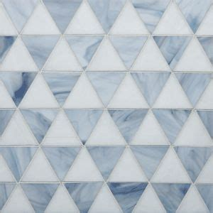 triangle pattern glass 2 quot triangles in snowdrift and marble mist to bathe in