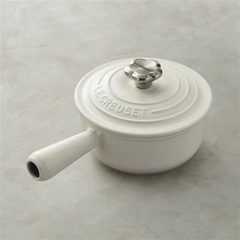 Le Creuset Oven Safe Knob by Le Creuset Sauce Pot With Flower Knob Williams Sonoma