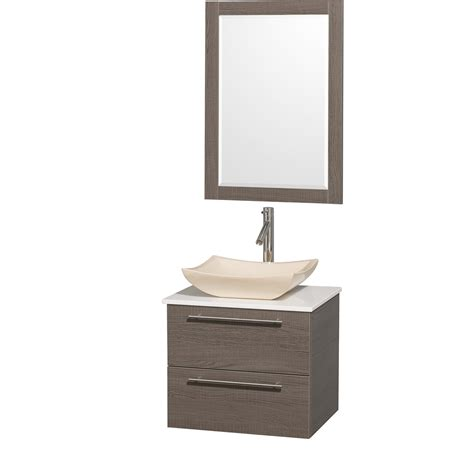 Cheviot Faucets Wyndham Collection Wcr410024gowhgs2 Amare 24 Inch Grey Oak