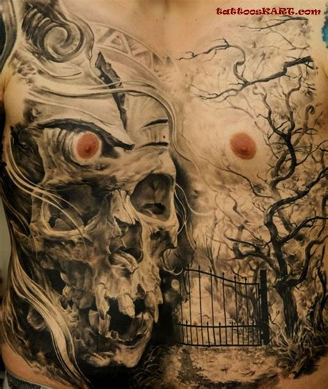 skull tattoo full body 70 incredible full body tattoos