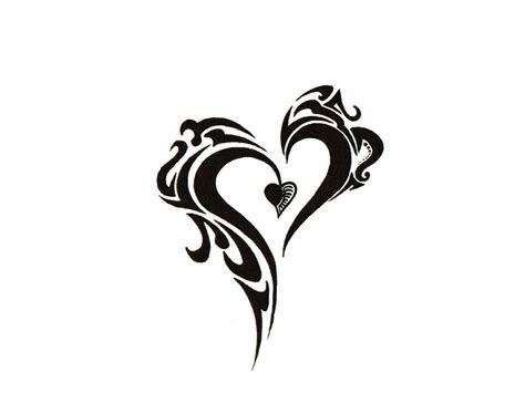 black heart tattoo amazing black ink design
