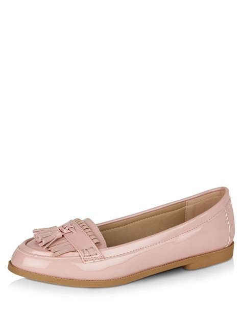 buy loafers for buy new look fringe loafers for s pink flat