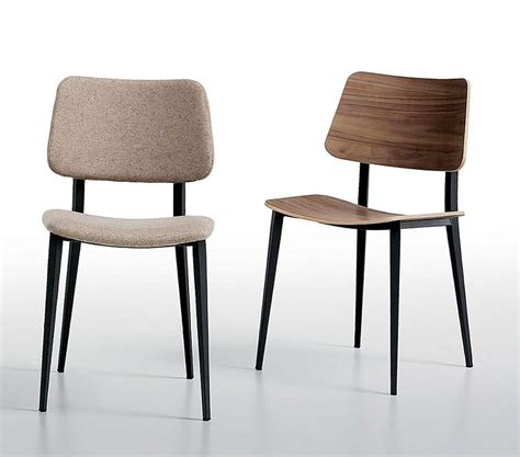 sedie per salotti sedia in metallo e legno per cucine e salotti idfdesign