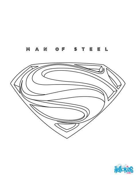 superman logo coloring pages superman coloring pages hellokids