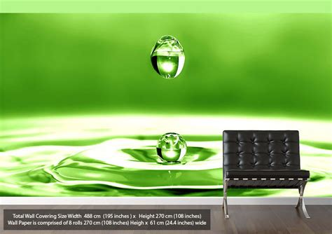 green vinyl wallpaper droplet 2 abstract green wallpaper printed wall paper