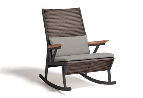 rocking couch chair vieques rocking chair by kettal stylepark