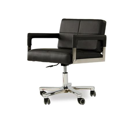 Dreamfurniture Com Alaska Modern Black Leather Office Modern Office Desk Chair