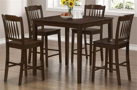 5 piece counter height dining set sophia 5 piece marble 5 piece cappuccino counter height dining set from monarch