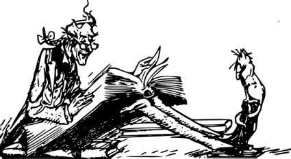 membaca format eps laki laki yang membaca untuk kucing clip art vektor clip