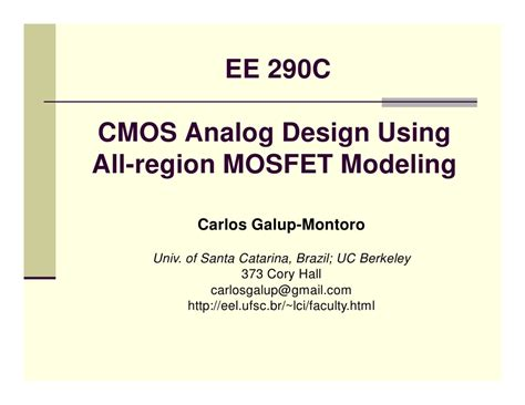 cmos layout design techniques cmos analog design lect 1