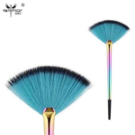 Brush Powder Brush Original anmor unique fan brush synthetic makeup brushes exquisite powder make up brushes with metal