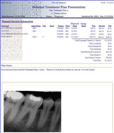 Dental Treatment Plan Presentation Dental Treatment Tomium Software