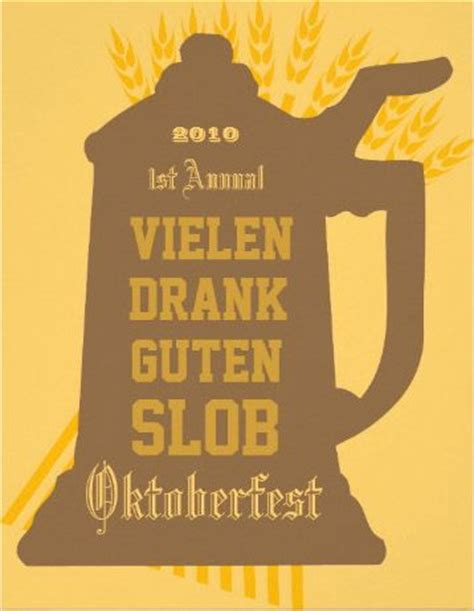 Invitation Letter For Birthday In German Custom Oktoberfest Invitation With Some Hops And German Words You Can Change Of Course