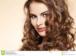 curly hair model wellness beautiful model with long curly hair royalty