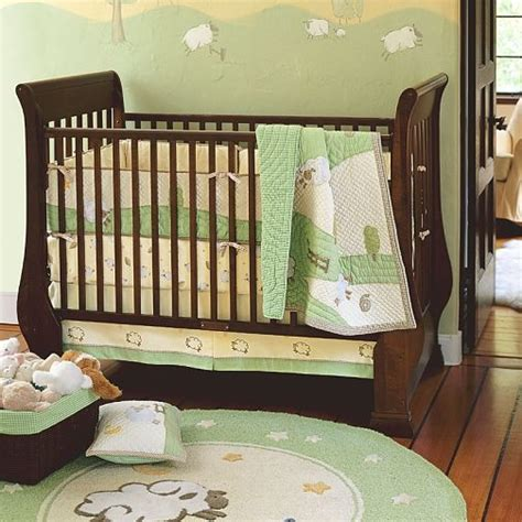 lamb crib bedding pottery barn chamois lamb bedding nursery ideas