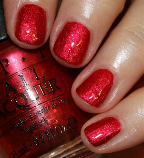 Deep Red Color opi breakfast at tiffany s collection vampy varnish