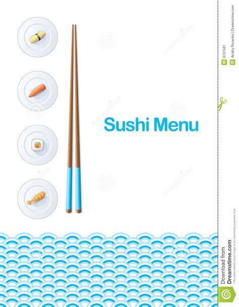 Sushi Menu Template Stock Vector Image Of Plate Logo 6727581 Sushi Menu Template Free