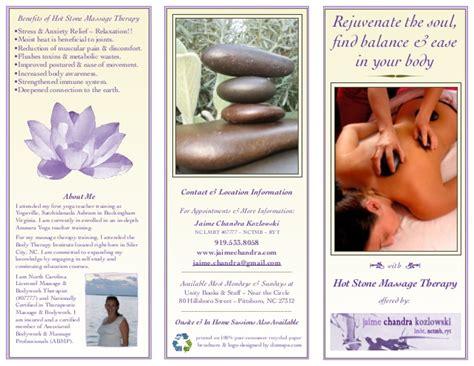 trifold brochure massage