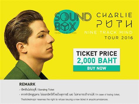 charlie puth japan ผ งการแสดง soundbox charlie puth nine track mind tour 2016