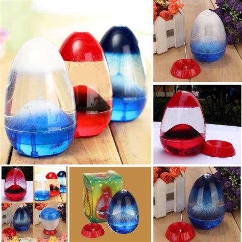 Liquid Timer Intl egg sandglass timer sand clock volcano liquid