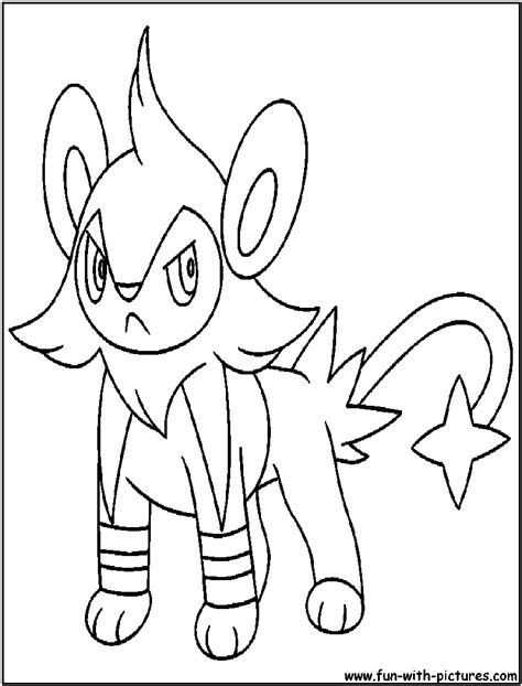 mon shinx coloring pages