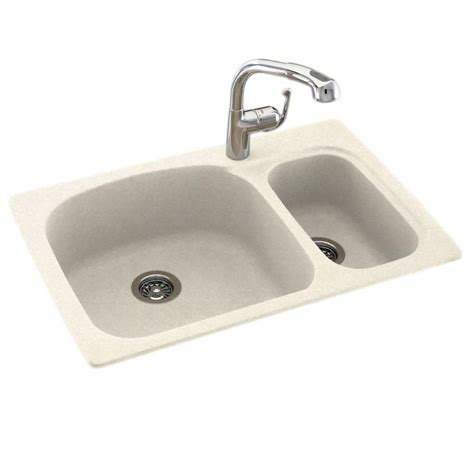 dual mount kitchen sink swan dual mount composite 33 in 1 bowl