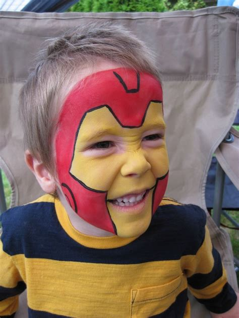 paint man face painting iron man maquillage pinterest iron