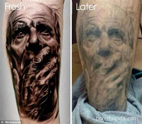 how much do tattoo artists make a year boredpanda users show tattoos faded in shocking photos