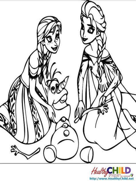 elsa and anna and olaf coloring pages best photos of elsa and olaf coloring pages frozen olaf