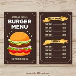 burger menu template burger menu template with orange ribbons vector free