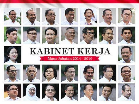 ini daftar nama susunan menteri kabinet jokowi jk 2014 image gallery menteri