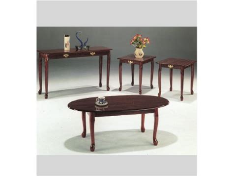 queen anne sofa table cherry finish 4 pc queen anne cocktail table with sofa table in cherry