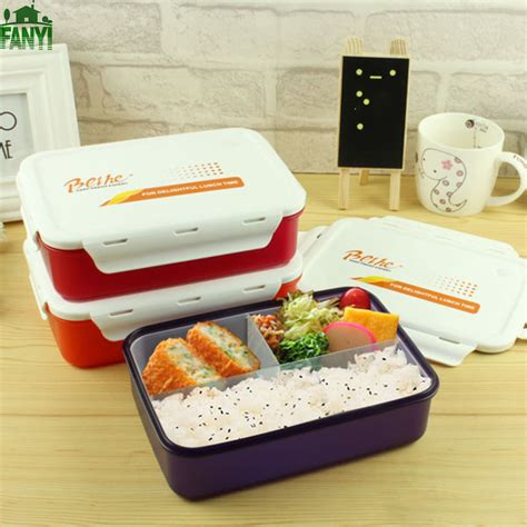 Box Bento Microwave 1 Wrna Promosi fanyi japanese food grade pp microwave food container sub grids bento box large capacity