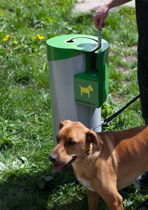 dogs pooping only can go into this trash can neatorama