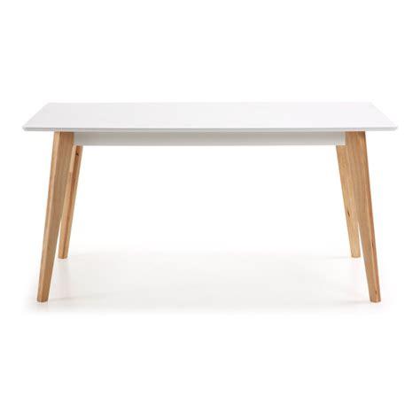 Table Blanche Pied Bois 4666 by Table Blanche Avec Pieds En Bois Splendeur Du Bois Bruxelles
