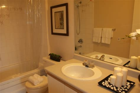 staging a small bathroom ensuite bathroom staging contemporary bathroom other