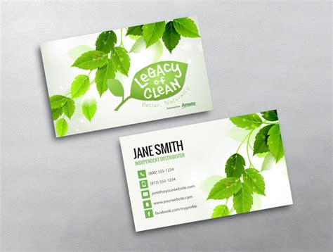 amway business card template amway business card 09