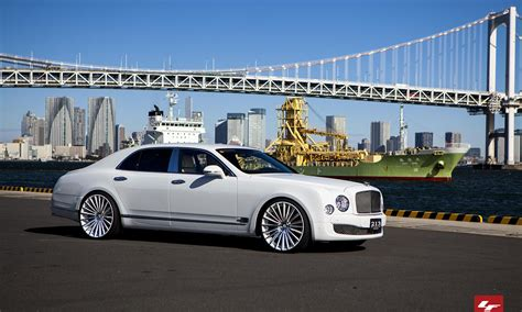 custom bentley mulsanne wheels 2013 white bentley mulsanne with custom lexani lz 722