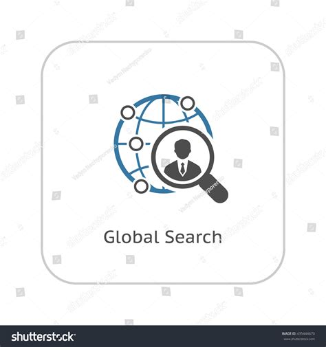 Global Search Global Search Icon Flat Design Isolated Stock Illustration 435444670