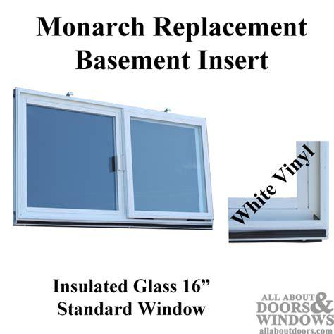 vinyl replacement basement windows monarch c 400a 16 vinyl basement window insert dual pane glass