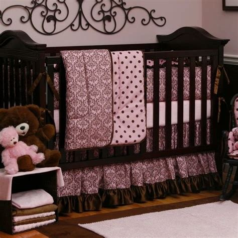 29 Best Images About Pink And Brown Baby Bedding On Pink And Brown Damask Crib Bedding