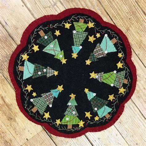 christmas tree mat pattern oh christmas tree wool mat kit