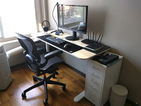 Ikea Computer Desk Ideas Ikea Bekan As Computer Desk With Ikea Helmer Drawer Unit Minimalist Desk Design Ideas
