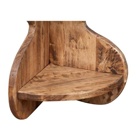 mensole ad angolo in legno biscottini set due mensole ad angolo in legno massello di