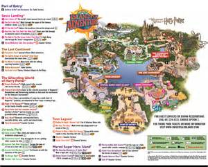 universal florida park map the thrills islands of adventure