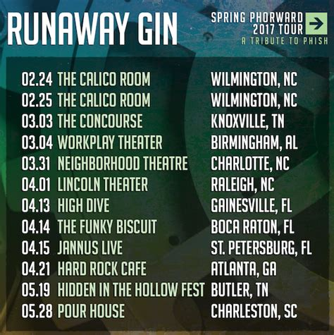 calico room wilmington nc runaway gin set phorward tour dates