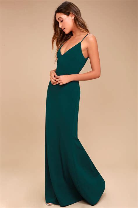 Greeny Maxi Dress forest green maxi dress mermaid maxi dress