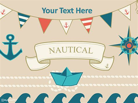 nautical template free anchor powerpoint templates myfreeppt