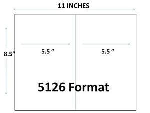 2 000 Half Sheet Shipping Labels 8 5 X 5 5 For 5126 Template Self Adhesive Ebay Avery Half Page Labels Template