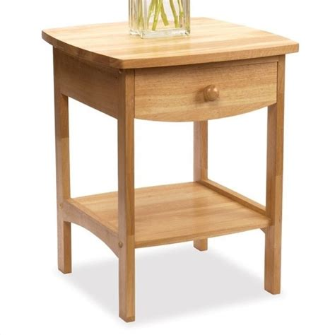 Wooden End Tables Winsome Basics Solid Wood End Table Nightstand Ebay